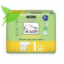 MUUMI Baby Pieluchy 1 Newborn 25szt pieluszki hipoalergiczne i ekologiczne (2-5kg)
