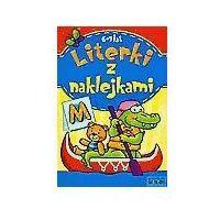 Książki dla dzieci, LITERKI Z NAKLEJKAMI 6-7 LAT (opr. miękka)