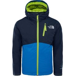 The North Face Snowdrift Kurtka Dzieci niebieski/czarny L   152-170 2018 Kurtki narciarskie Przy złożeniu zamówienia do godziny 16 ( od Pon. do Pt., wszystkie metody płatności z wyjątkiem przelewu bankowego), wysyłka odbędzie się tego samego dnia.