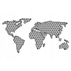 Metalowa mapa świata ścienna d11 150x77cm