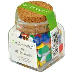 Pinezki klasyczne Q-CONNECT w plastikowym słoiku 300 sztuk mix kolorów