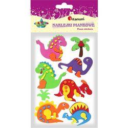 Naklejki piankowe dinozaury 8 sztuk - Titanum