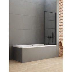 New Trendy parawan nawannowy New Soleo Black 90 cm, wys. 140 cm, szkło czyste 6 mm P-0048