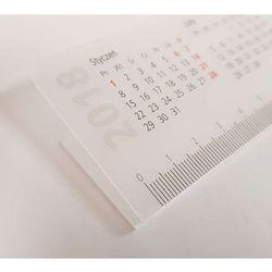 Plastikowa listwa do biuwaru formatu B3 szerokość 48cm, nadruk kalendarza 2018 i linijki
