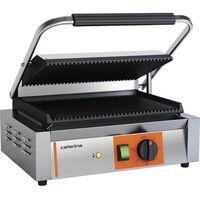 Grille gastronomiczne, Grill kontaktowy panini ryflowany 2.2 kW CATERINA