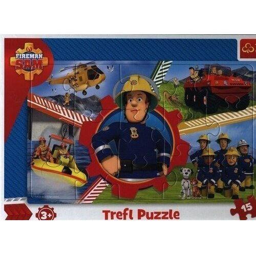 Puzzle, Puzzle ramkowe 15 Dzień Strażaka Sama TREFL