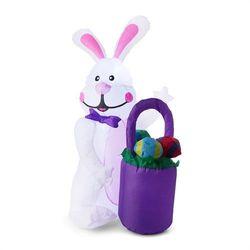 oneConcept Mr. Bunny Samonadmuchujący zając wielkanocny Ozdoba wielkanocna 120 cm Dmuchawa LED