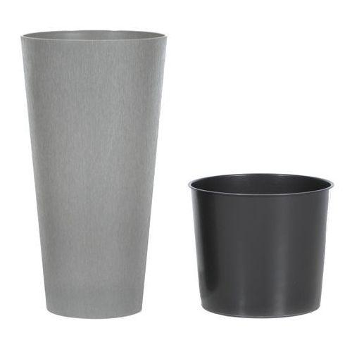 Doniczki i podstawki, Doniczka Tubus Slim Beton Prosperplast : Średnica - 250 mm, Kolor - Beton