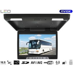 """NVOX RF2090U BL Monitor podwieszany podsufitowy LCD 20"""" cali LED USB SD IR FM"""
