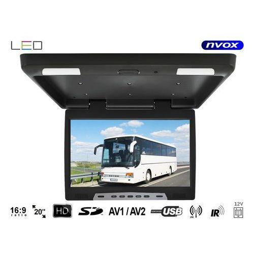 """Pozostałe car audio-video, NVOX RF2090U BL Monitor podwieszany podsufitowy LCD 20"""" cali LED USB SD IR FM"""