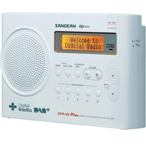 Radioodbiorniki, Radio Sangean DPR-69 Biały (DPR69WE) Darmowy odbiór w 20 miastach! Raty od 14,02 zł
