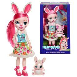 ENCHANTIMALS Duża lalka Bree Bunny + zwierzątko