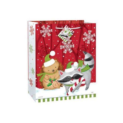 Opakowania prezentowe, Torebka prezentowa na Boże Narodzenie M 33x26 cm- 1 szt.
