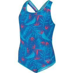 Regatta Tanvi Strój kąpielowy Dzieci, victoria blue tropical 7-8Y | 128 2020 Stroje kąpielowe