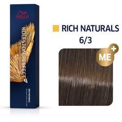 Wella Koleston Perfect   Trwała farba do włosów 6/3 60ml