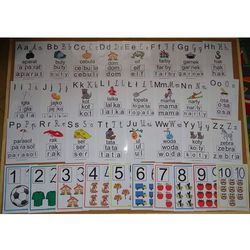 Podstawowy zestaw nauczyciela nr 3 - alfabet i cyfry edukacyjne