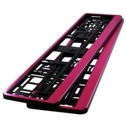 Ramki pod tablicę rejestracyjną HP Różowe 2 szt - Różowe