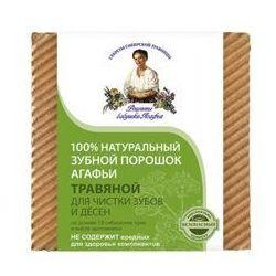 Babuszka Agafia Naturalny Ziołowy proszek do zębów - czyszczący 120ml