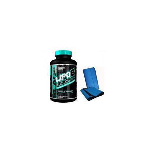 Redukcja tkanki tłuszczowej, Nutrex Lipo 6 Black Hers 120kaps + Pas Neoprenowy GYMAX