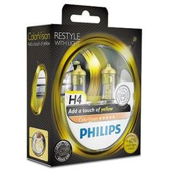Żarówka samochodowa H4 Philips Colorvision, P43t, 60/55 W, 12 V, 1 par(a)