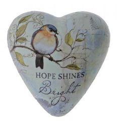 "Serce ""Nadzieja świeci jasno"" Hope Shines Bright Art Heart Token 1003480238 figurka ozdoba serce"
