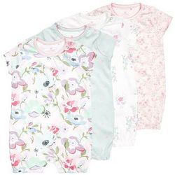 Next FLORAL SHORT SLEEVE ROMPERS BABY 4 PACK Kombinezon multicolor