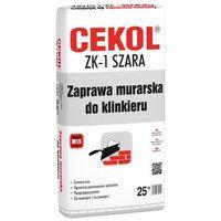 Zaprawy i szpachle, Zaprawa murarska do klinkieru ZK-1 Szara 25 kg CEKOL