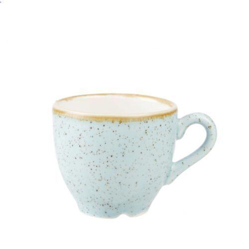 Filiżanki, Filiżanka espresso 0,1 l, niebieska   CHURCHILL, Stonecast Duck Egg Blue