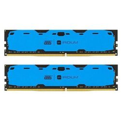 Pamięć DDR4 GOODRAM IRIDIUM 16GB (2x8GB) 2400MHz CL15-15-15 IRDM 1024x8 Blue