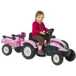 FALK Traktor księżniczki z przyczepką i akcesoriami, różowy 2/5 Darmowa wysyłka i zwroty