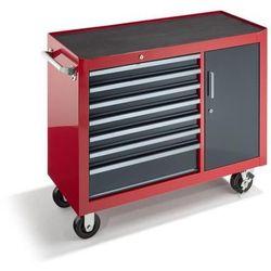 Wózek warsztatowy, wys. x szer. x głęb. 923x1060x480 mm, 7 szuflad, 1 drzwi skrz