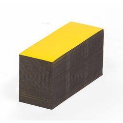 Magnetyczna tablica magazynowa, żółte, wys. x szer. 20x80 mm, opak. 100 szt. Zap