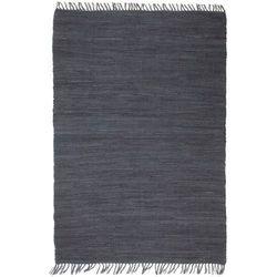 Ręcznie tkany dywanik Chindi, bawełna, 200x290 cm, antracytowy