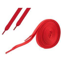 Sznurówki płaskie do butów 7 mm - czerwone - Czerwony
