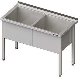 Stół z basenem dwukomorowym 1400x700x850 mm   STALGAST, 981387140