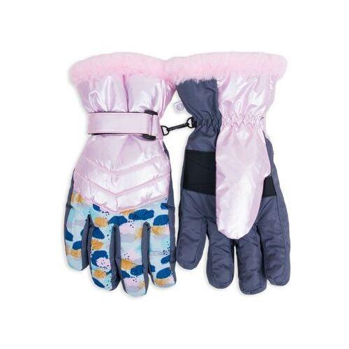 Odzież do sportów zimowych, Rękawiczki narciarskie damskie różowe w plamki 20