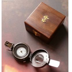 Mosiężny kompas militarny na Prezent