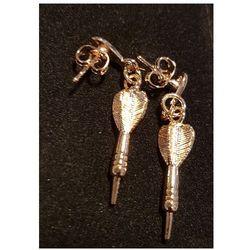 Biżuteria/kolczyki lotka dart złota