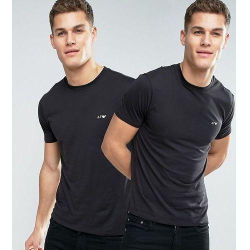 T-shirty męskie, Armani Jeans 2 Pack T-Shirt Regular Fit Black/Black - Black