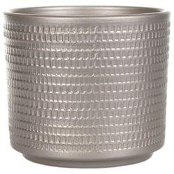 Osłonka doniczki Cermax Calla cylinder 16 cm szampan