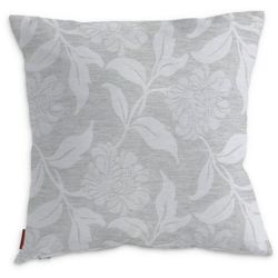 Dekoria Poszewka Kinga na poduszkę, wzór roślinny z połyskiem na szarym tle, 60 × 60 cm, Venice
