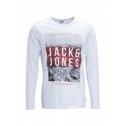 Jack & Jones JCOGRAY CREW NECK SLIM FIT Bluzka z długim rękawem white