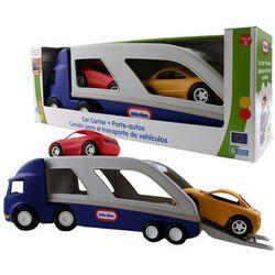 LT Ciężarówka Laweta z Samochodami -niebieska