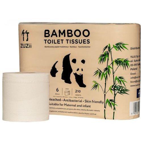 Papier toaletowy, Papier toaletowy bambusowy 6szt. - Zuzii