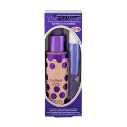 Physicians Formula Youthful Wear Spotless SPF15 zestaw Make-up 28,35 g + Pędzel kosmetyczny 1 szt dla kobiet Light/Medium