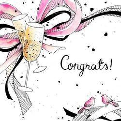Karnet Swarovski kwadrat Ślub szampan - Clear Creations OD 24,99zł DARMOWA DOSTAWA KIOSK RUCHU