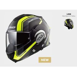 KASK LS2 FF399 VALIANT LINE M/BLACK H-V YELLOW
