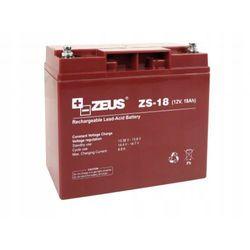 Akumulator 12V 18Ah do alarmu buforowy PPOŻ bezobsługowy AGM ZEUS ZS-18 Z-18