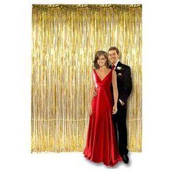 Kurtyna - zasłona na drzwi metaliczna złota - 250 x 90 cm