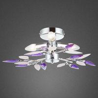 Lampy sufitowe, Plafon lampa oprawa sufitowa Globo Giulietta 3X40W E14 chrom/fiolet 63167-3